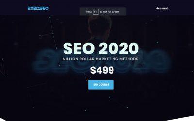 SEO 2020 – Million Dollar Marketing Methods