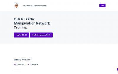 Chris Palmer – CTR and Traffic Manipulation Network Traning