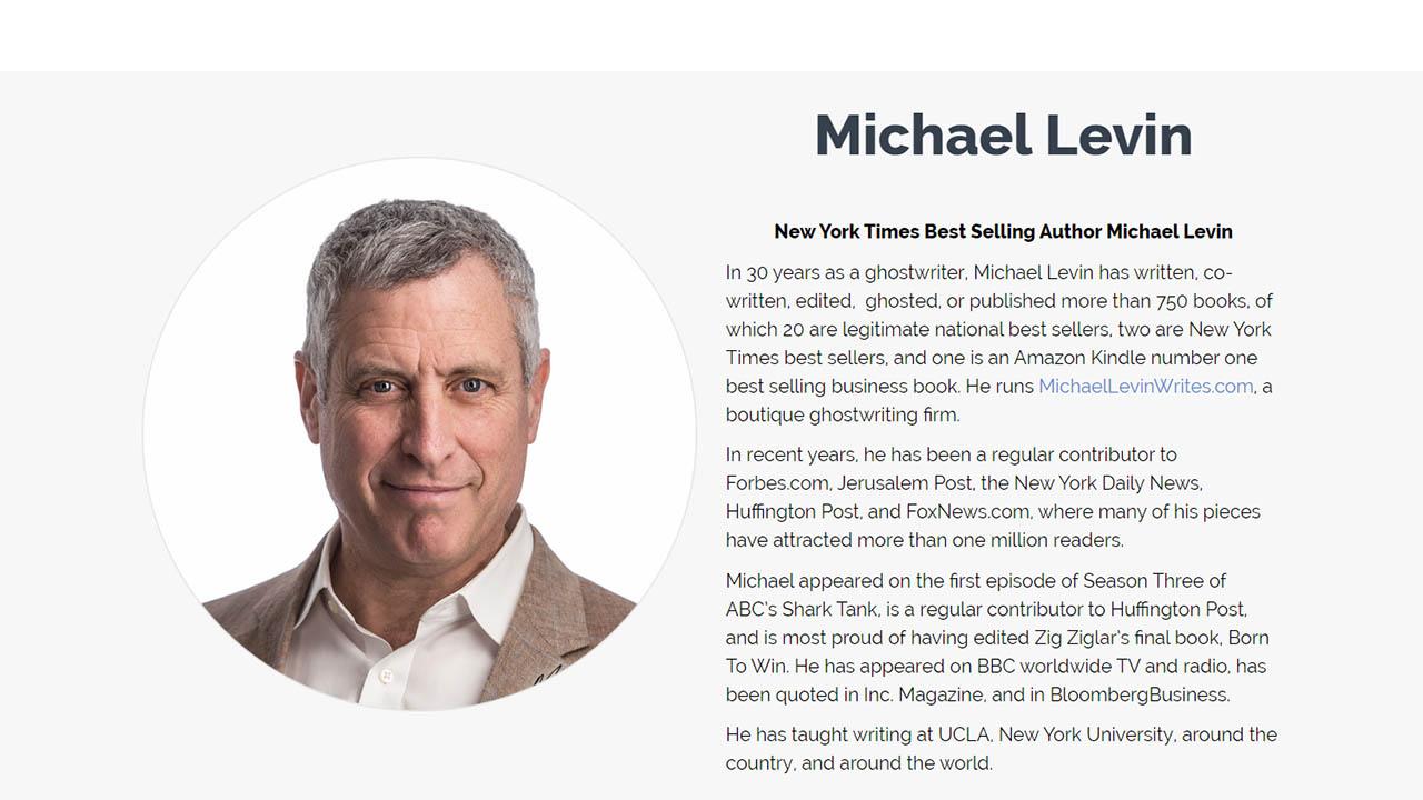 Michael Levin – Got a Book In You