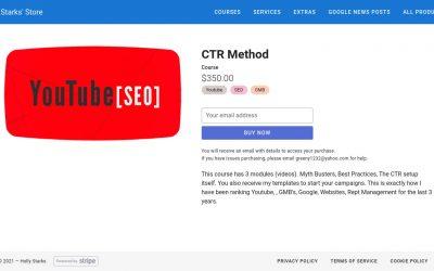 Holly Starks – CTR Method  – YouTube ranking + Clickbank Affiliate Marketing