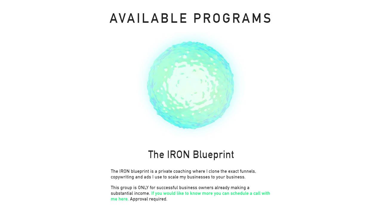 Alex Becker – Iron Blueprint