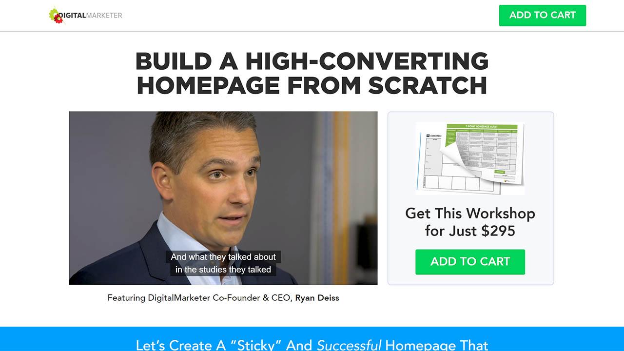 Ryan Deiss – Craft A High-Converting Homepage v2