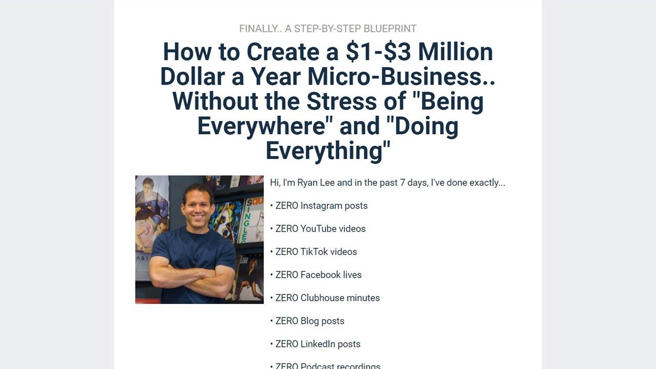 Ryan Lee – Micro-Business Workshop