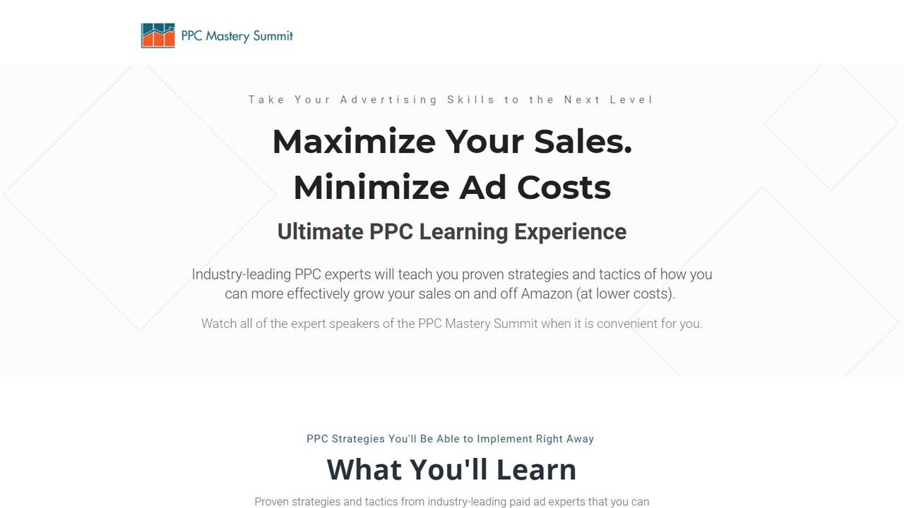 Kevin Sanderson – Amazon PPC Mastery Summit