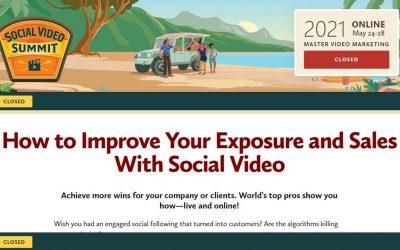Social Media Examiner – The Social Video Summit 2021