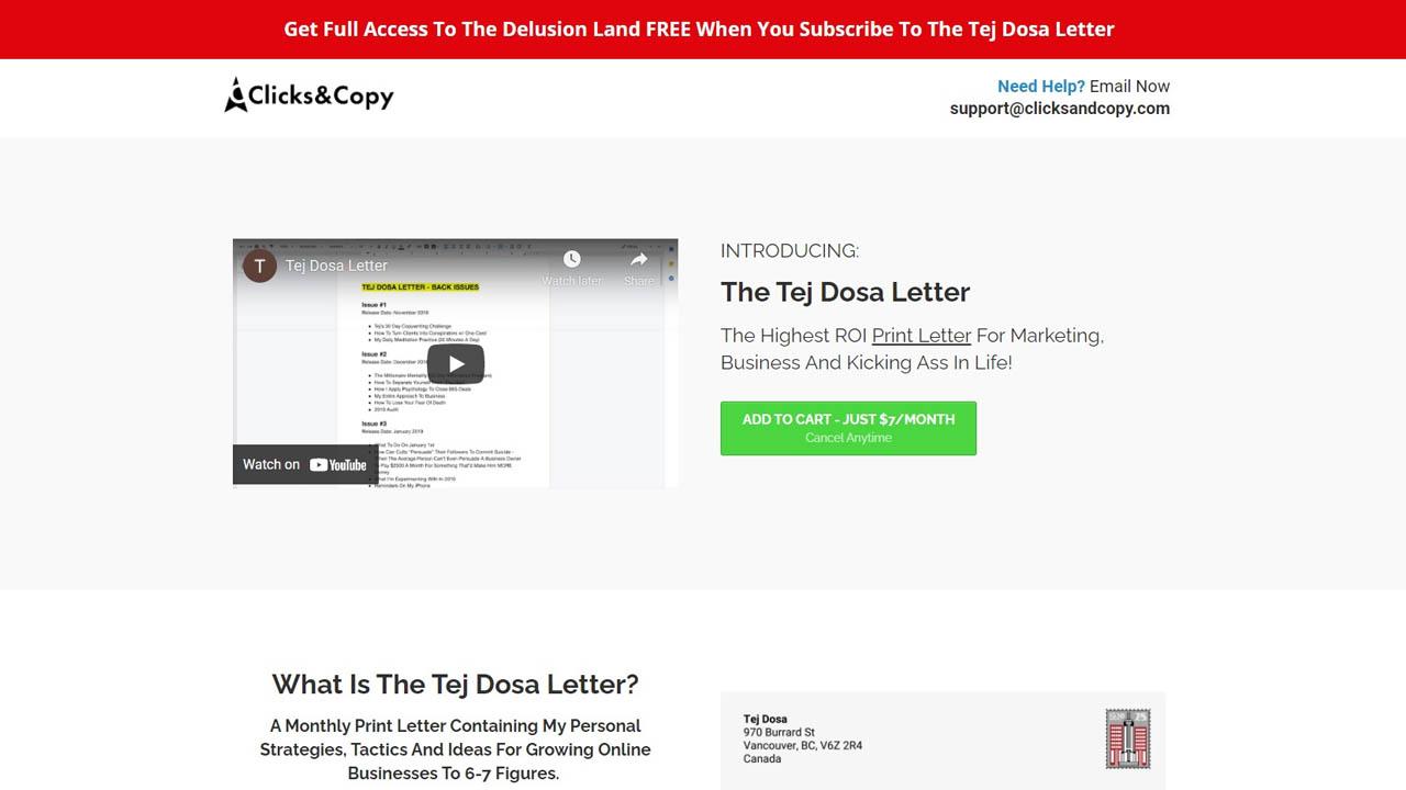 Tej Dosa – The Tej Dosa Letter