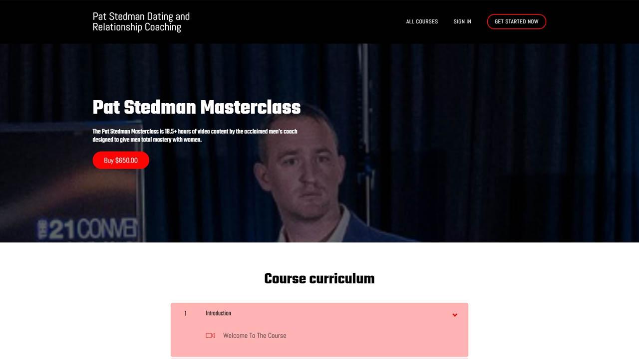 Pat Stedman Masterclass