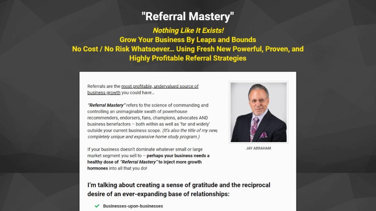Jay Abraham – Refferal Mastery